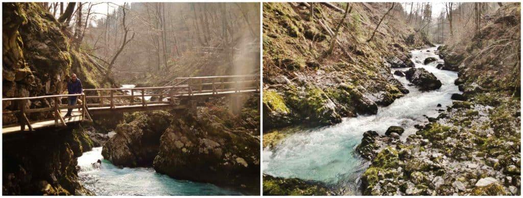 Il torrente Radovna si snoda attraverso la gola