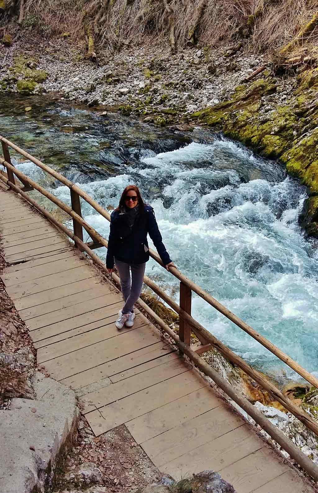 La forza del torrente Radovna nella gola di Vintgar