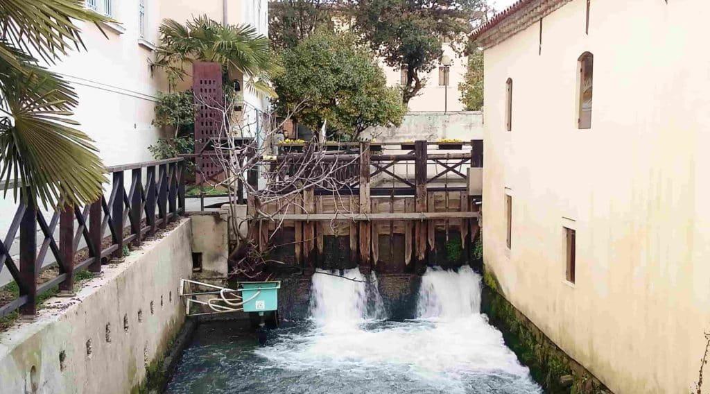 Impianto di risalita per le anguille del fiume Lemene