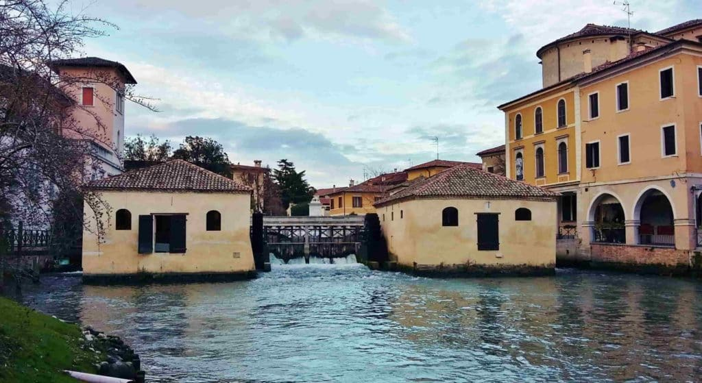 I due mulini di Sant'Andrea sul fiume Lemene a Portogruaro