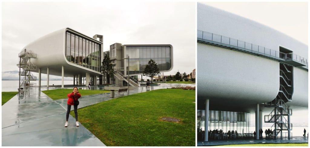 Architettura esterna del Centro Botin a Santander
