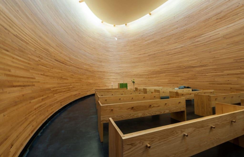 La cappella del silenzio di Helsinki, internamente