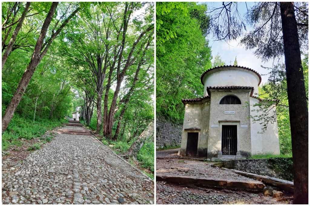 Il sentiero verso il santuario di Sant'Augusta