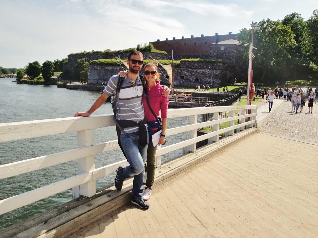 Uno dei ponti che collegano le isole dell'arcipelago su cui sorge la fortezza di Suomenlinna