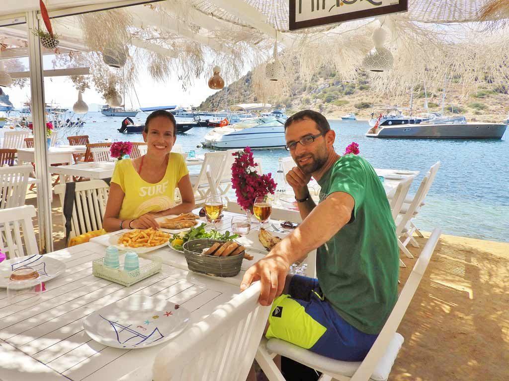 Ristorante di pesce sulla baia di Gümüşlük