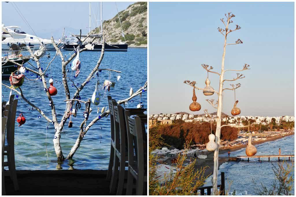 Tipiche lampade che adornano Gümüşlük e la penisola di Bodrum in Turchia