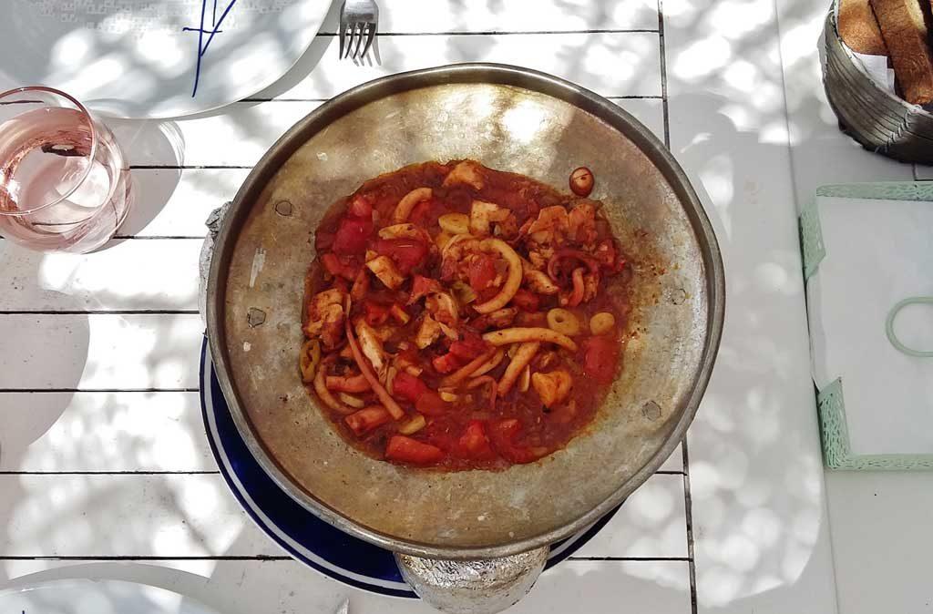 Ristorante Mimoza a Gümüşlük: antipasto di pesce
