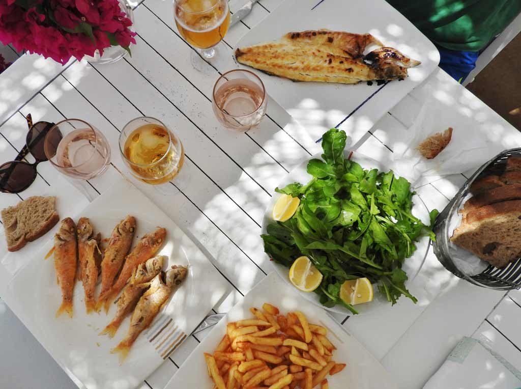 Ristorante Mimoza a Gümüşlük, pranzo a base di pesce fresco