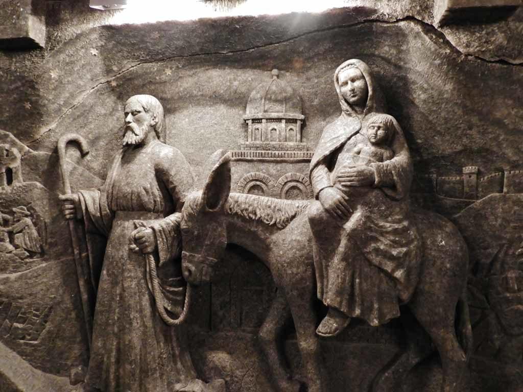 Scena natività nella Cappella di Santa Kinga