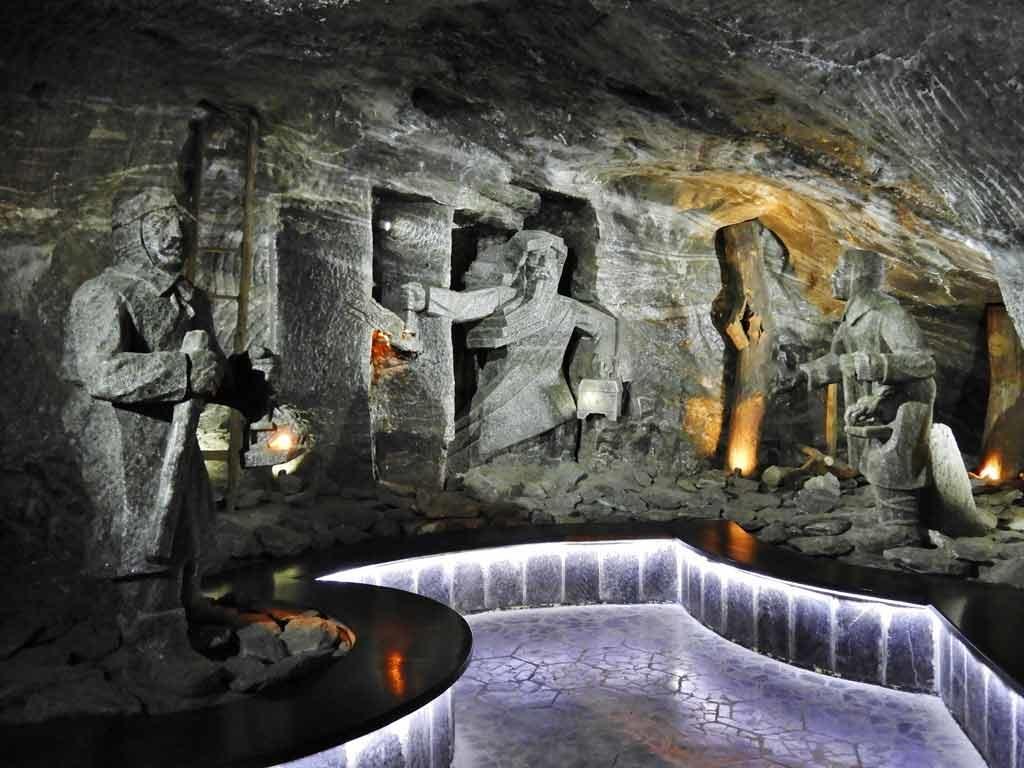 Sala sotterranea della miniera di sale di Wieliczka