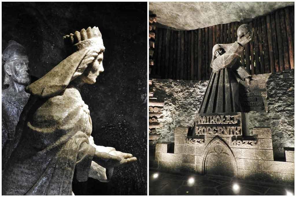 Miniera di sale di Wieliczka, scultura di Niccolò Copernico
