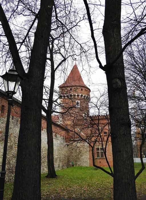 Cracovia, il Barbacane e attorno il Planty