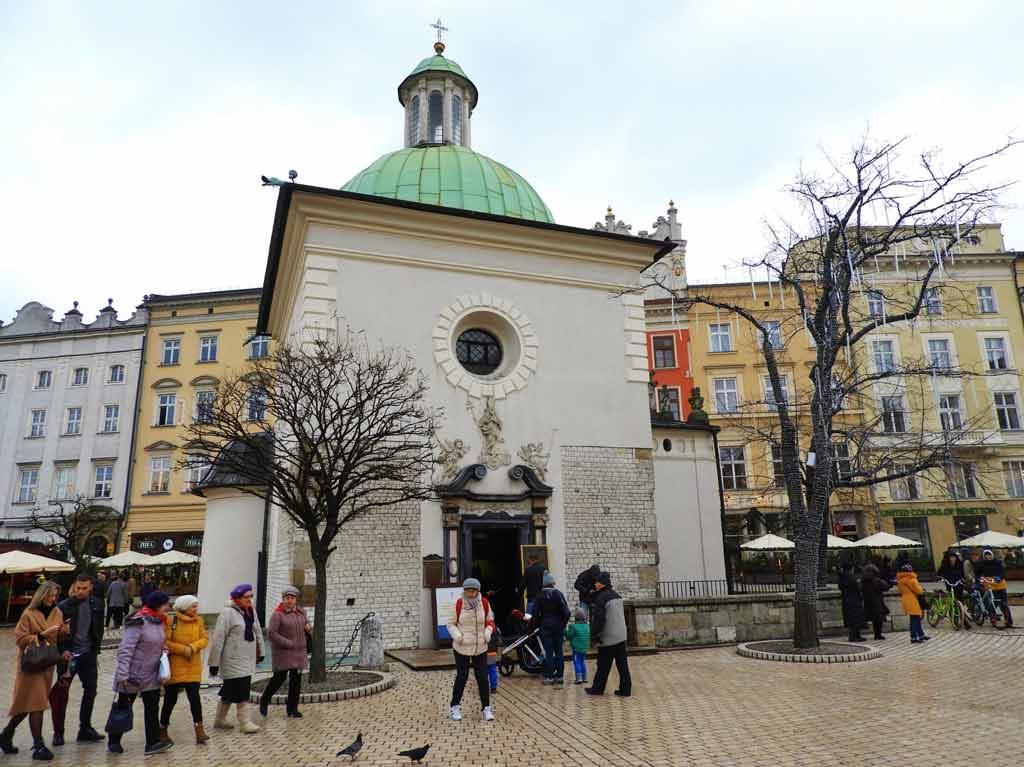 Cracovia, la chiesa di Sant'Adalberto da Praga