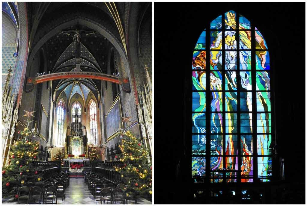 Cracovia, la Chiesa di San Francesco con la vetrata in stile liberty