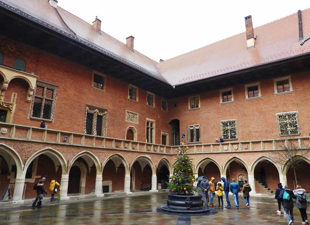 Cracovia, il cortile interno del Collegium Maius