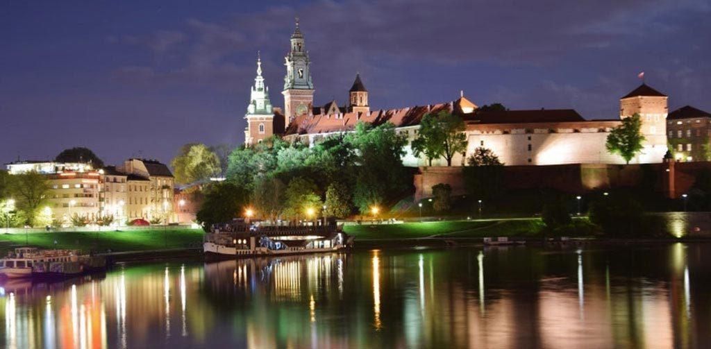 Cracovia, panorama sulla Collina del Wawel