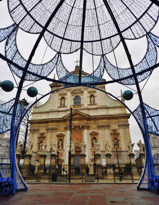 Cracovia a Natale, la Chiesa dei Santi Pietro e Paolo