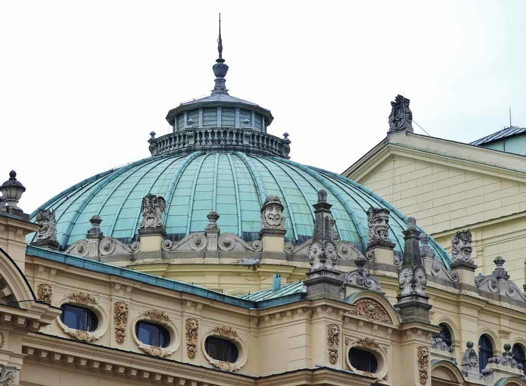 Cracovia, la cupola del Teatro Słovacki
