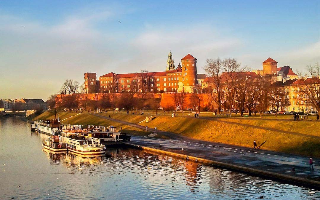 Wawel di Cracovia collina cattedrale castello